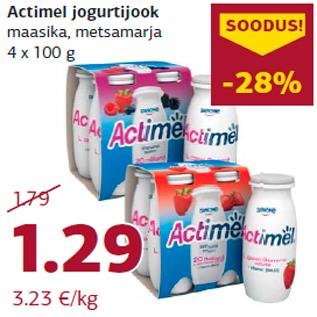 Allahindlus - Actimel jogurtijook