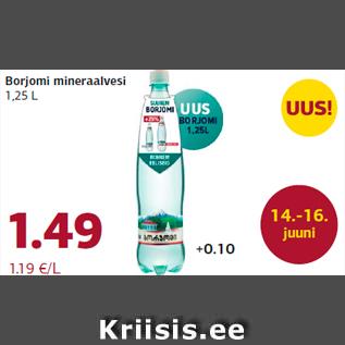 Allahindlus - Borjomi mineraalvesi 1,25 L