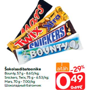 Скидка - Шоколадный батончик