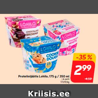 Allahindlus - Proteiinijäätis Lohilo, 175 g / 350 ml