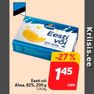 Allahindlus - Eesti või Alma, 82%, 200 g