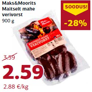 Allahindlus - Maks&Moorits Maitselt mahe verivorst 900 g