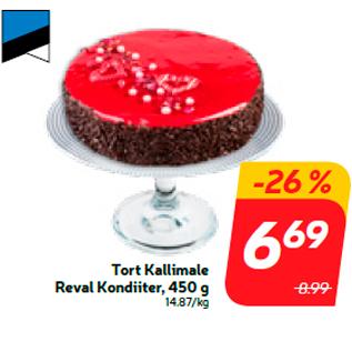 Allahindlus - Tort Kallimale Reval Kondiiter, 450 g