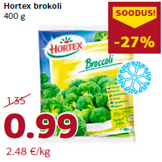 Allahindlus - Hortex brokoli 400 g