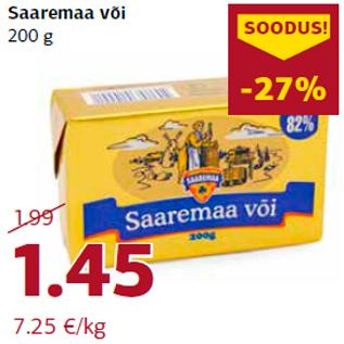 Allahindlus - Saaremaa või 200 g