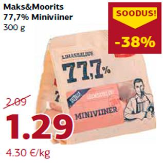 Allahindlus - Maks&Moorits 77,7% Miniviiner 300 g