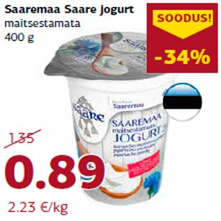 Allahindlus - Saaremaa Saare jogurt