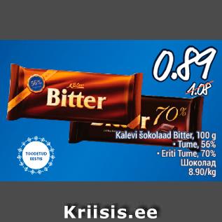 3bf6727dbb2 Kalevi šokolaad Bitter, 100 g - Allahindlus - Säästumarket - Kriisis ...