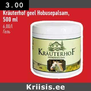 375d52e44e6 Kräuterhof geel Hobusepalsam, - Allahindlus - Selver - Kriisis.ee ...
