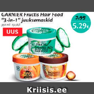 """Allahindlus - Garnier Fructis Hair Food """"3-in1"""" juuksemaskid"""