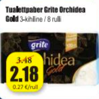 Allahindlus - Tualettpaber Grite Orchidea Gold