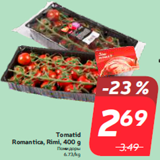 Allahindlus - Tomatid Romantica, Rimi, 400 g