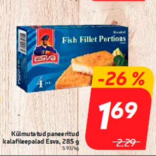 Allahindlus - Külmutatud paneeritud kalafileepalad Esva, 285 g