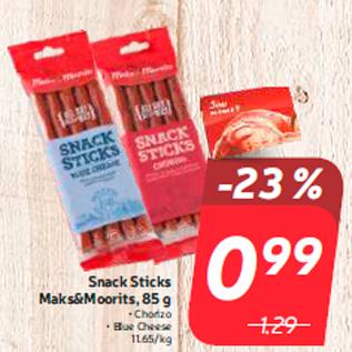 Allahindlus - Snack Sticks Maks&Moorits, 85 g
