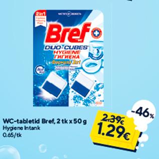 Allahindlus - WC-tabletid Bref, 2 tk x 50 g
