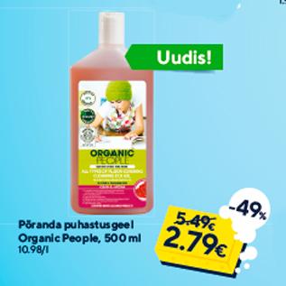 Allahindlus - Põranda puhastusgeel Organic People, 500 ml