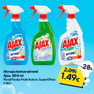 Allahindlus - Aknapuhastusvahend Ajax, 500 ml