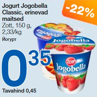 Allahindlus - Jogurt Jogobella Classic, erinevad maitsed