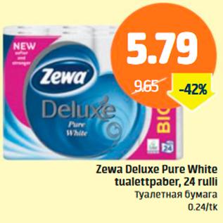 Allahindlus - Zewa Deluxe Pure White tualettpaber, 24 rulli