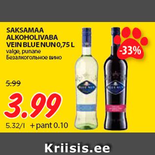 2a2de9c7773 SAKSAMAA ALKOHOLIVABA VEIN BLUE NUN 0,75 L - Allahindlus ...