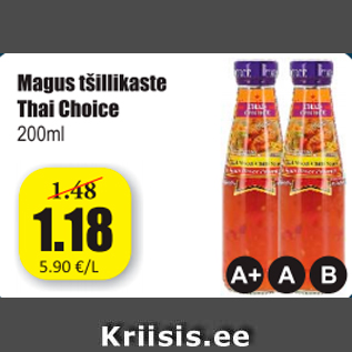 Allahindlus - Magus tšillikaste Thai Choice 200 ml