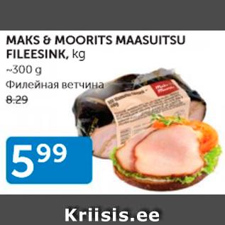 Allahindlus - MAKS & MOORITS MAASUITSU FILEESINK, KG