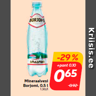 Allahindlus - Mineraalvesi Borjomi, 0,5 l