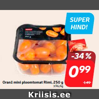 Allahindlus - Oranž mini ploomtomat Rimi, 250 g
