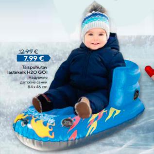 Allahindlus - Täispuhutav lastekelk H2O GO!