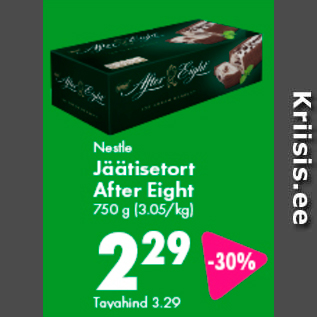 Allahindlus - Nestle Jäätisetort After Eight, 750 g