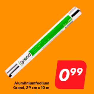 Allahindlus - Alumiiniumfoolium Grand, 29 cm x 10 m
