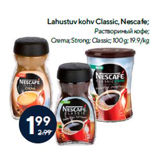 Allahindlus - Lahustuv kohv Classic, Nescafe