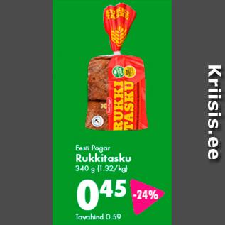 Allahindlus - Eesti Pagar Rukkitasku 340 g