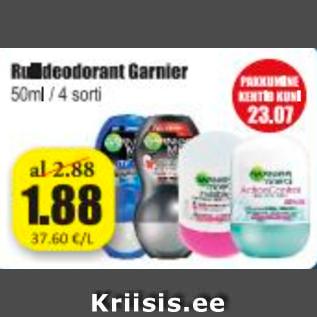Allahindlus - Rulldeodorant Garnier
