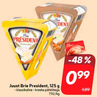Allahindlus - Juust Brie President, 125 g