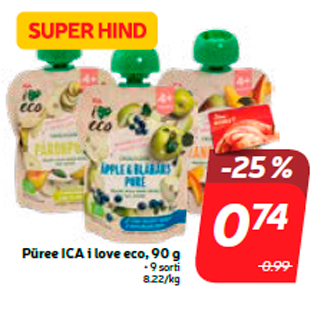 Allahindlus - Püree ICA i love eco, 90 g
