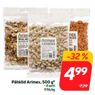 Allahindlus - Pähklid Arimex, 500 g*