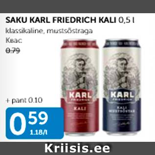 Allahindlus - SAKU KARL FRIEDRICH KALI 0,5 L