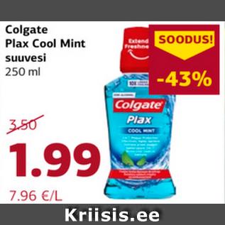 Allahindlus - Colgate Plax Cool Mint suuvesi 250 ml