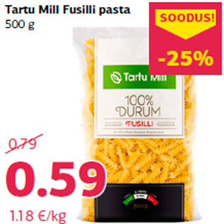 Allahindlus - Tartu Mill Fusilli pasta 500 g