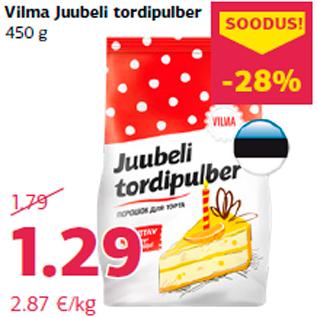 Allahindlus - Vilma Juubeli tordipulber 450 g