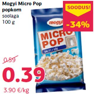 Allahindlus - Mogyi Micro Pop popkorn