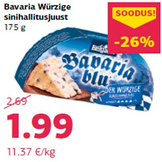 Allahindlus - Bavaria Würzige sinihallitusjuust 175 g