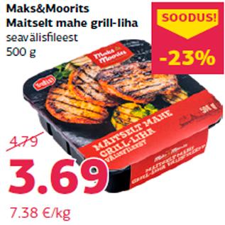 Allahindlus - Maks&Moorits Maitselt mahe grill-liha