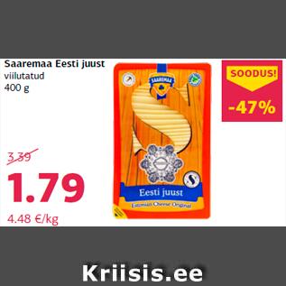 Allahindlus - Saaremaa Eesti juust