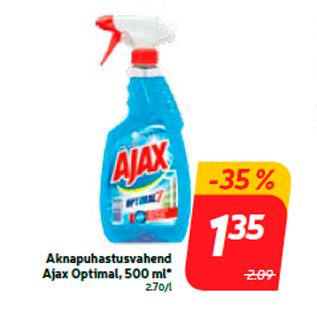 Allahindlus - Aknapuhastusvahend Ajax Optimal, 500 ml*