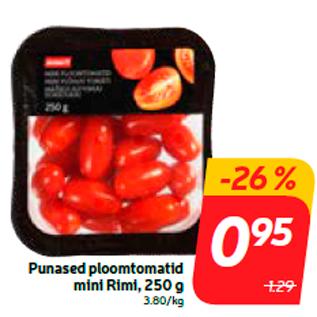 Allahindlus - Punased ploomtomatid mini Rimi, 250 g