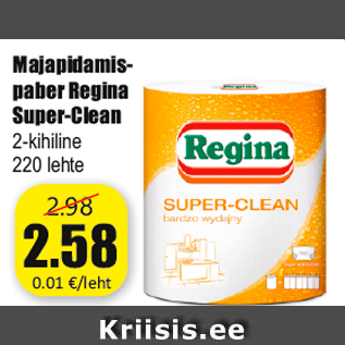 Allahindlus - Majapidamispaber Regina Super-Clean