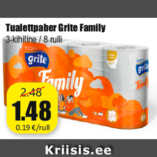 Allahindlus - Tualettpaber Grite Family