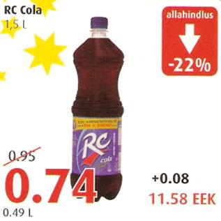 Allahindlus - RC Cola